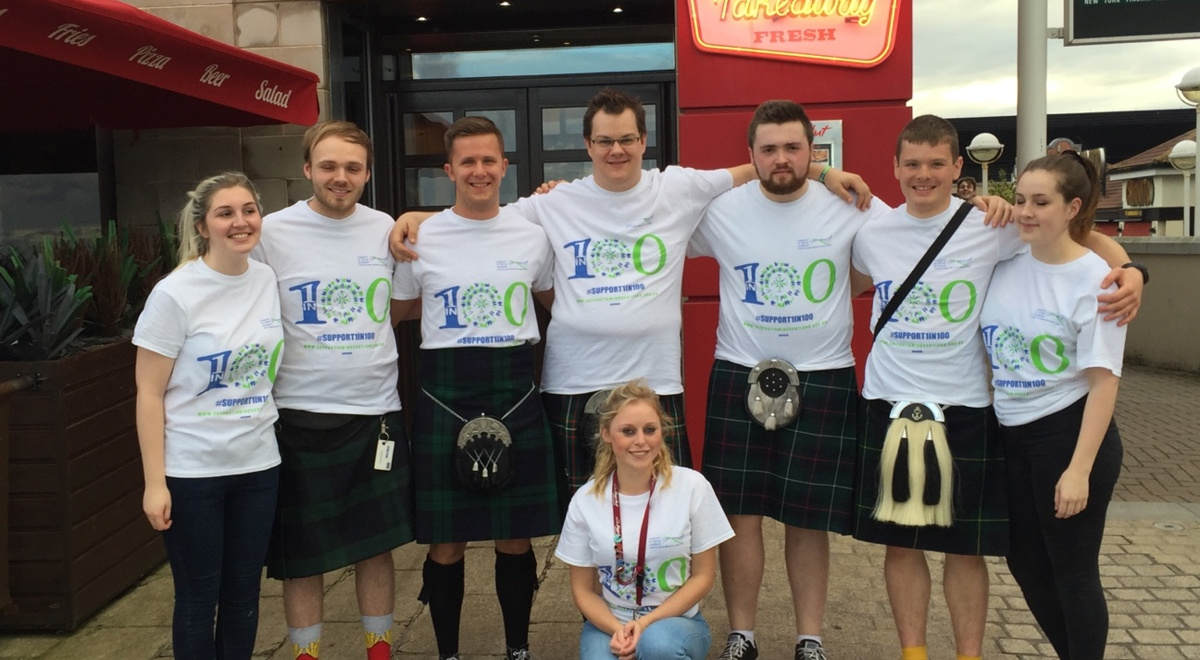 Kilted kick-off for Pizza Hut partnership in Aberdeen