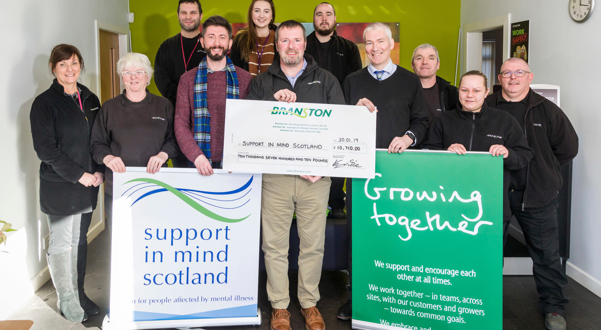 Branston chip in to raise £10,000 for Support in Mind Scotland
