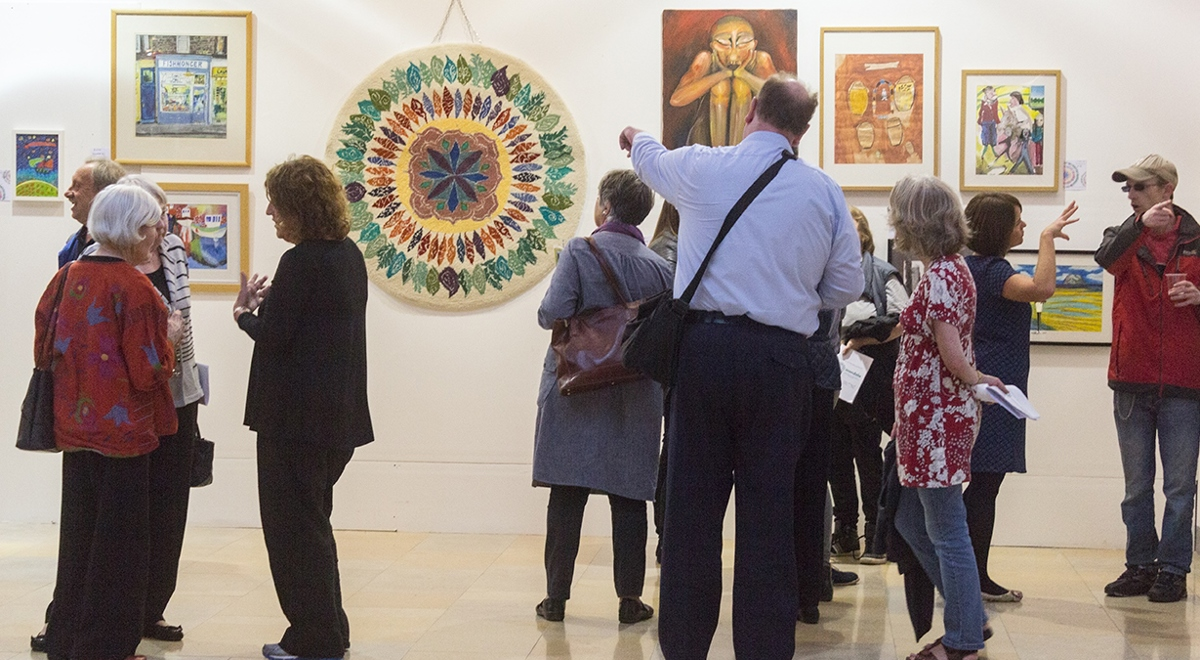 Art Exhibition Opens With a Flourish