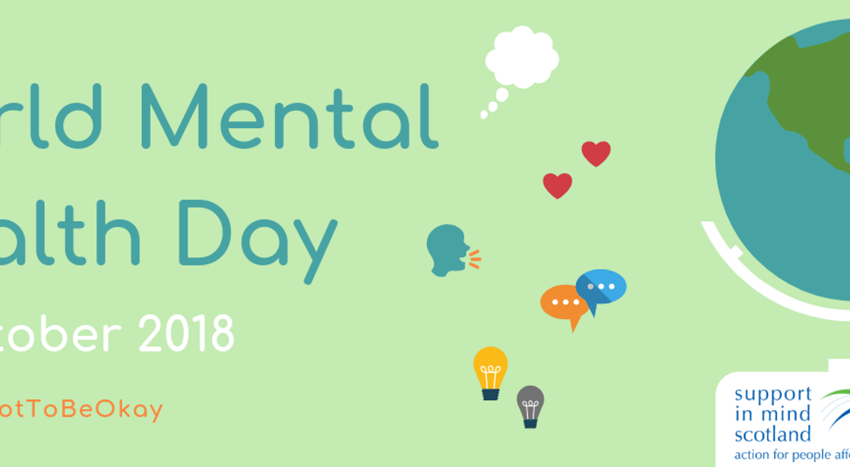 Support in Mind Scotland celebrates World Mental Health Day 2018 across Scotland