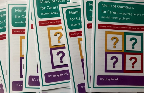 New Carers Leaflets in partnership with Carers Trust