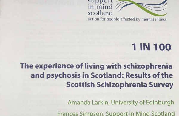 1 in 100 report: Living with schizophrenia and psychosis in Scotland
